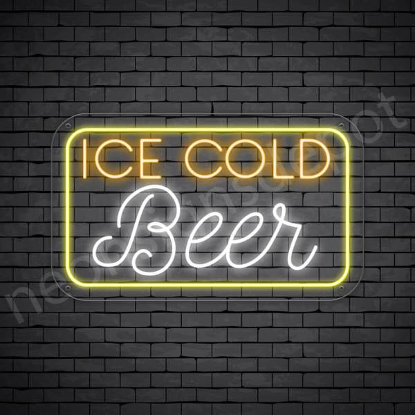 """Beer Neon Sign Ice Cold Beer- 30"""" x 18"""""""
