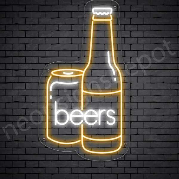 Beer Neon Sign Can Beer 14x24