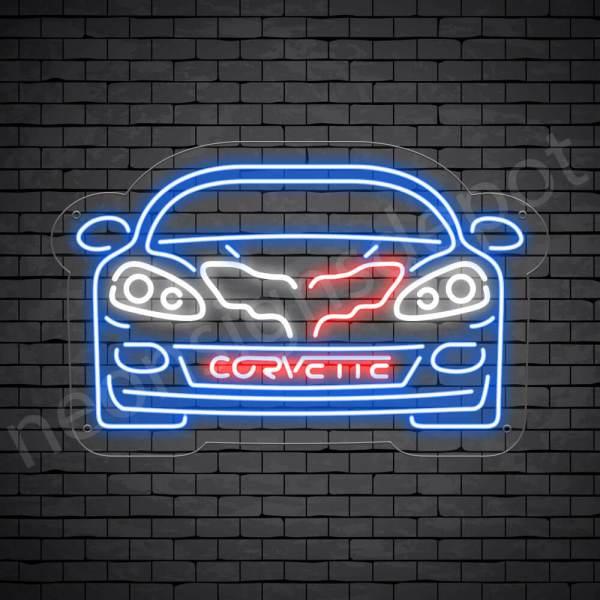 C6 Corvette Neon Bar Sign - Transparent
