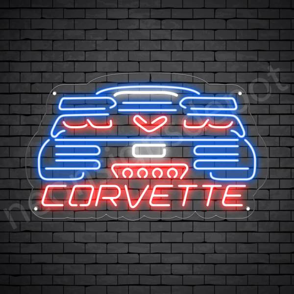 C7 Corvette Neon Bar Sign - Transparent