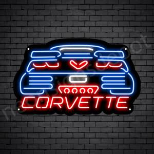 C7 Corvette Neon Bar Sign - Black
