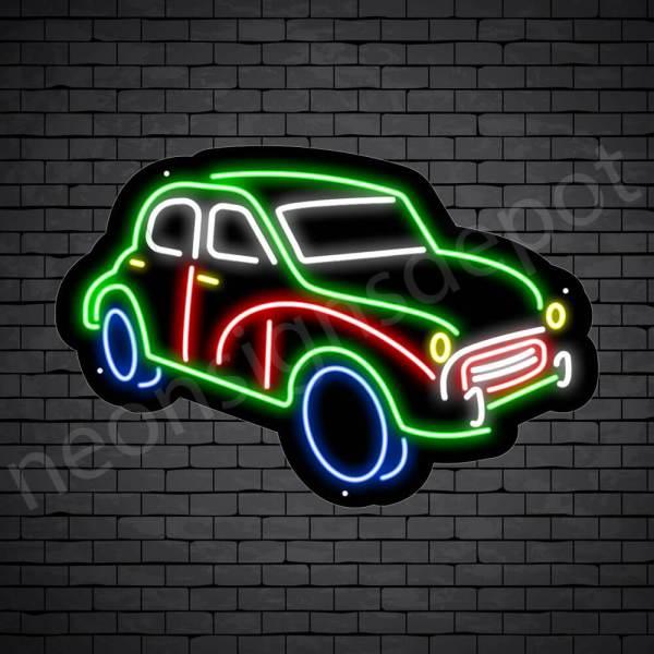Car Neon Sign Classic Pick Up Black- 24x16