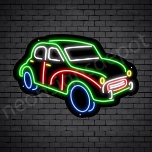 Car Neon Sign Classic Pick Up Black- 24x16