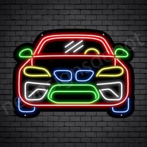 Car Neon Sign Sports Car Black - 24x18