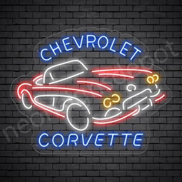 Chevy Corvette Sign - Transparent