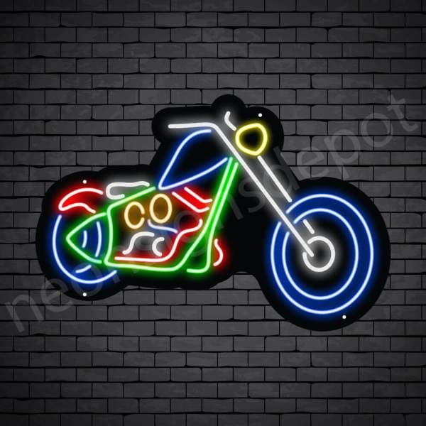 Motorcycle Neon Sign Long Chopper 24x16