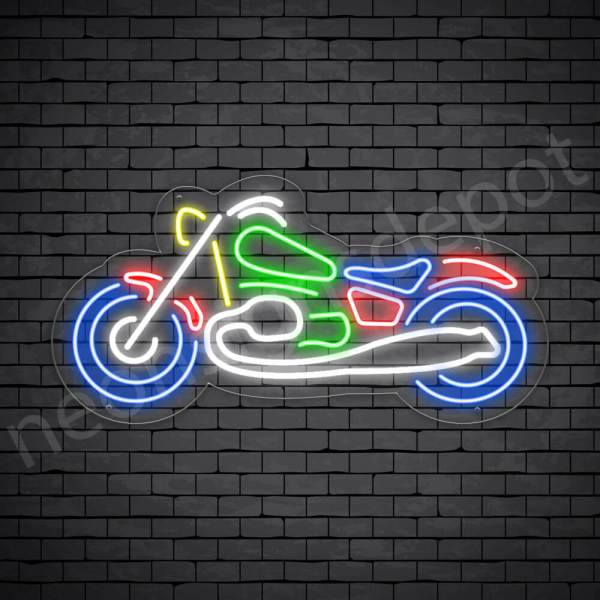 Motorcycle Neon Sign Motor Race Bike 24x12