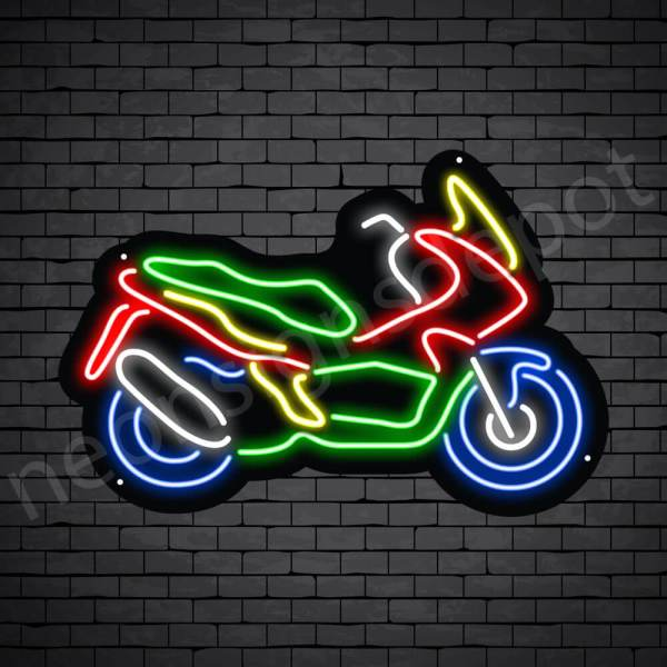 Motorcycle Neon Sign Motor Style 24x16
