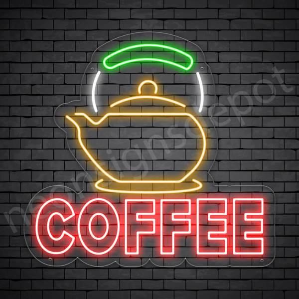 Coffee Neon Sign Coffee Heater Transparent 24x22