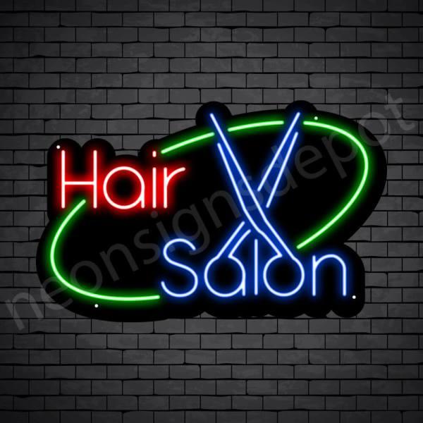 Hair Salon Neon Sign Hair Salon Black 30x19