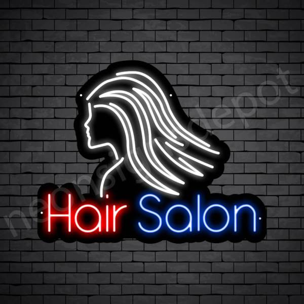 Hair Salon Neon Sign Hair Salon Parlor Black 24x19