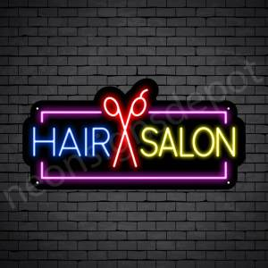 Hair Salon Neon Sign Hair Salon Scissor 24x12