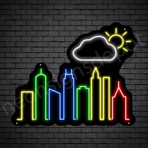 Cloud Autumn City Neon Sign