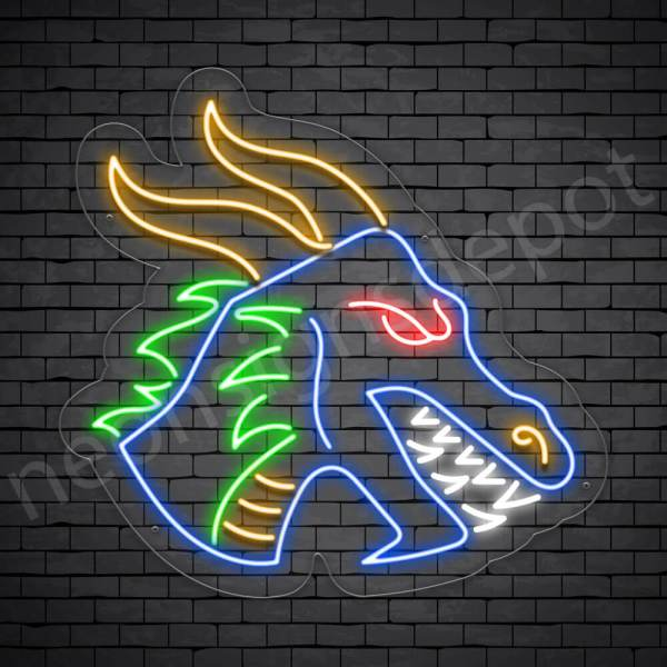 Blue Dragon Neon Sign