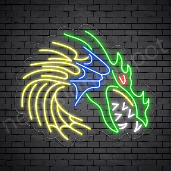 High Amuka Dragon Neon Sign Transparent