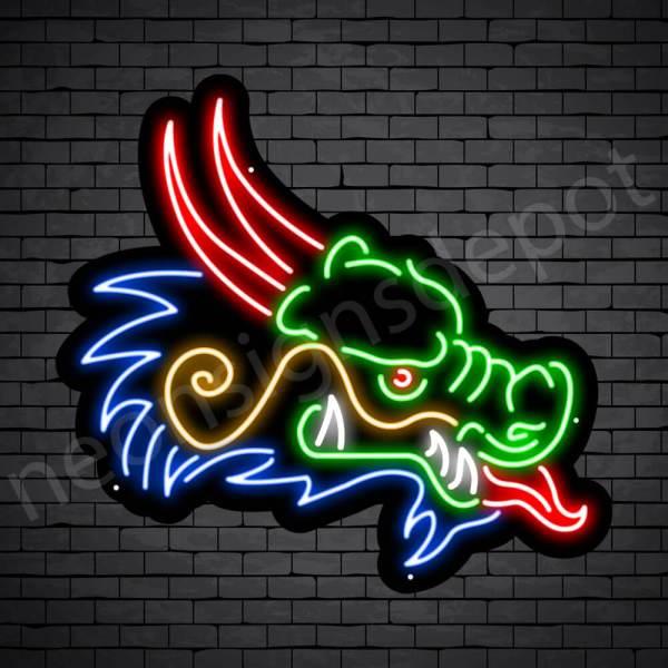 Venom Dragon Neon Sign Black