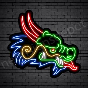 Venom Dragon Neon Sign Black