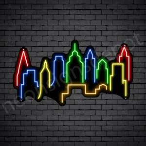 Kuala Lumpur City Neon Sign Black