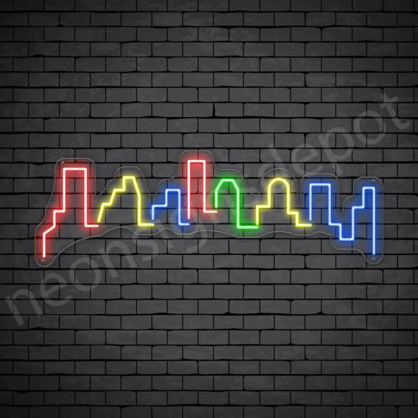 Meca City Neon Sign Transparent