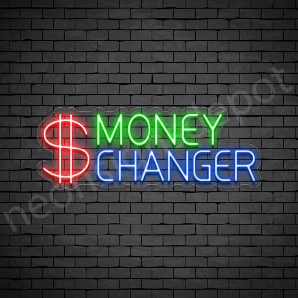 Money Changer Neon Sign - transparent