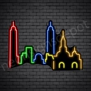 Nashville City Neon Sign Black