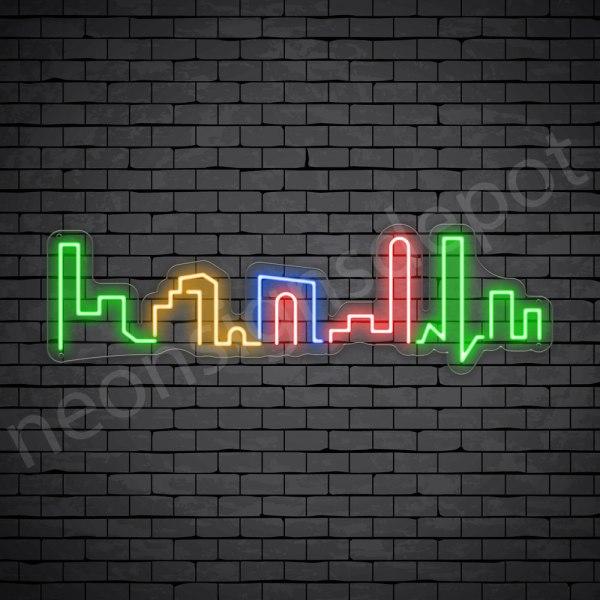 Small Beautiful City Neon Sign - Transparent
