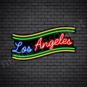 Los Angeles Slant Neon Sign - Black