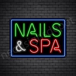 Nails & Spa Neon Sign - Black