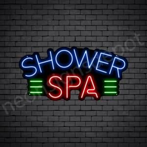 Shower Spa Neon Sign - Black