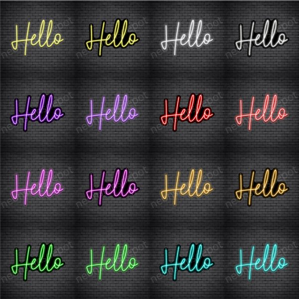 HELLO V2 Neon Sign