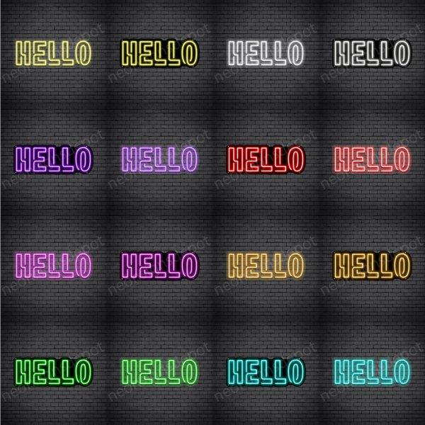 Hello V3 Neon Sign