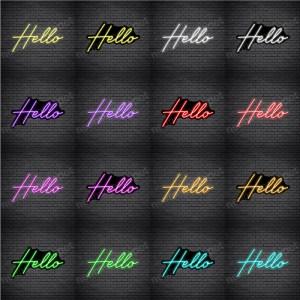 Hello V4 Neon Sign