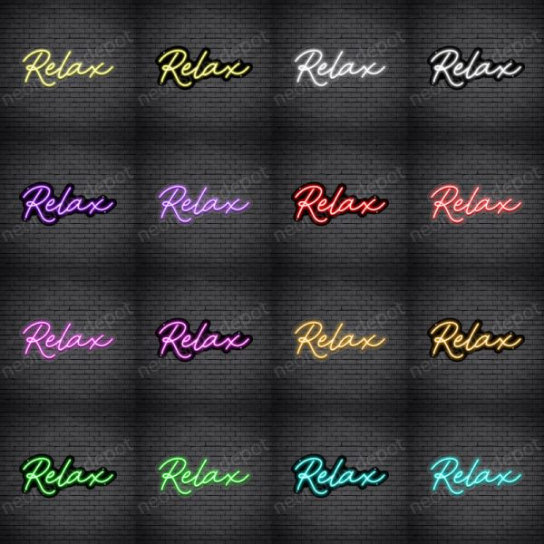 Relax V1 Neon Sign