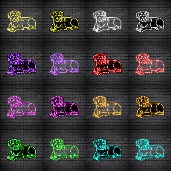 Rottweilers Dog V3 Neon Sign