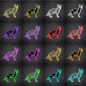 German Shepherd Dog V4 Neon Sign
