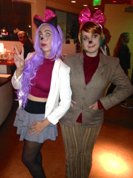 Tiff Rust Mire Bell Jones and Hello Kitty Carl Sagan. (Belinda Cai/Neon Tommy)