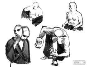 sketch session - Butoh Japanese Dance