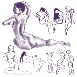 daily gesture drawing 2015-02-14
