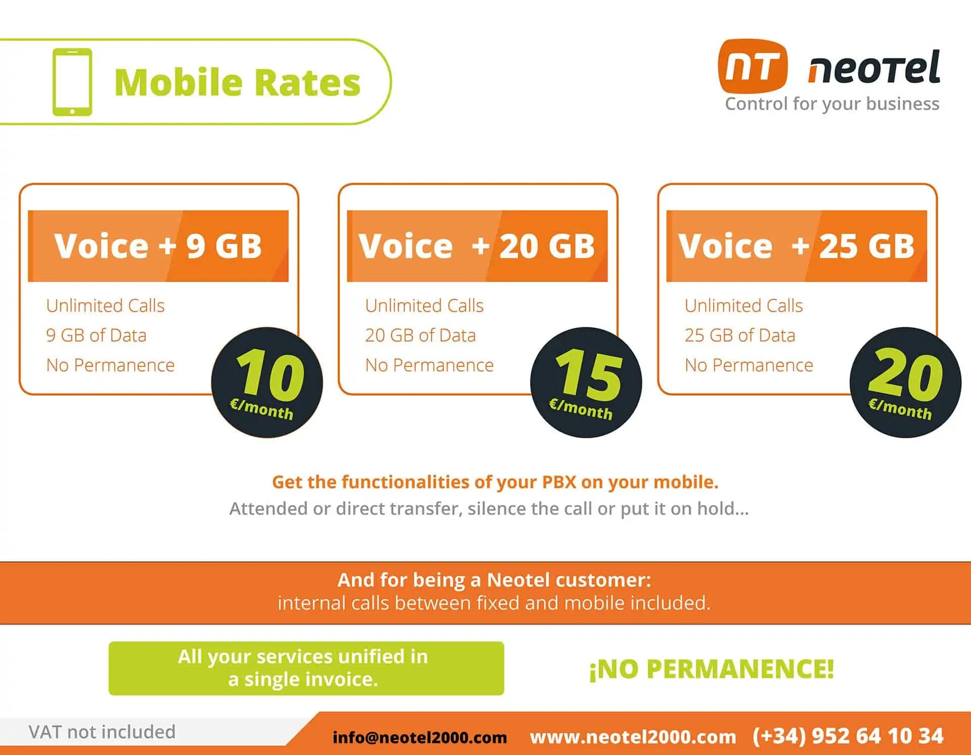 mobile rates