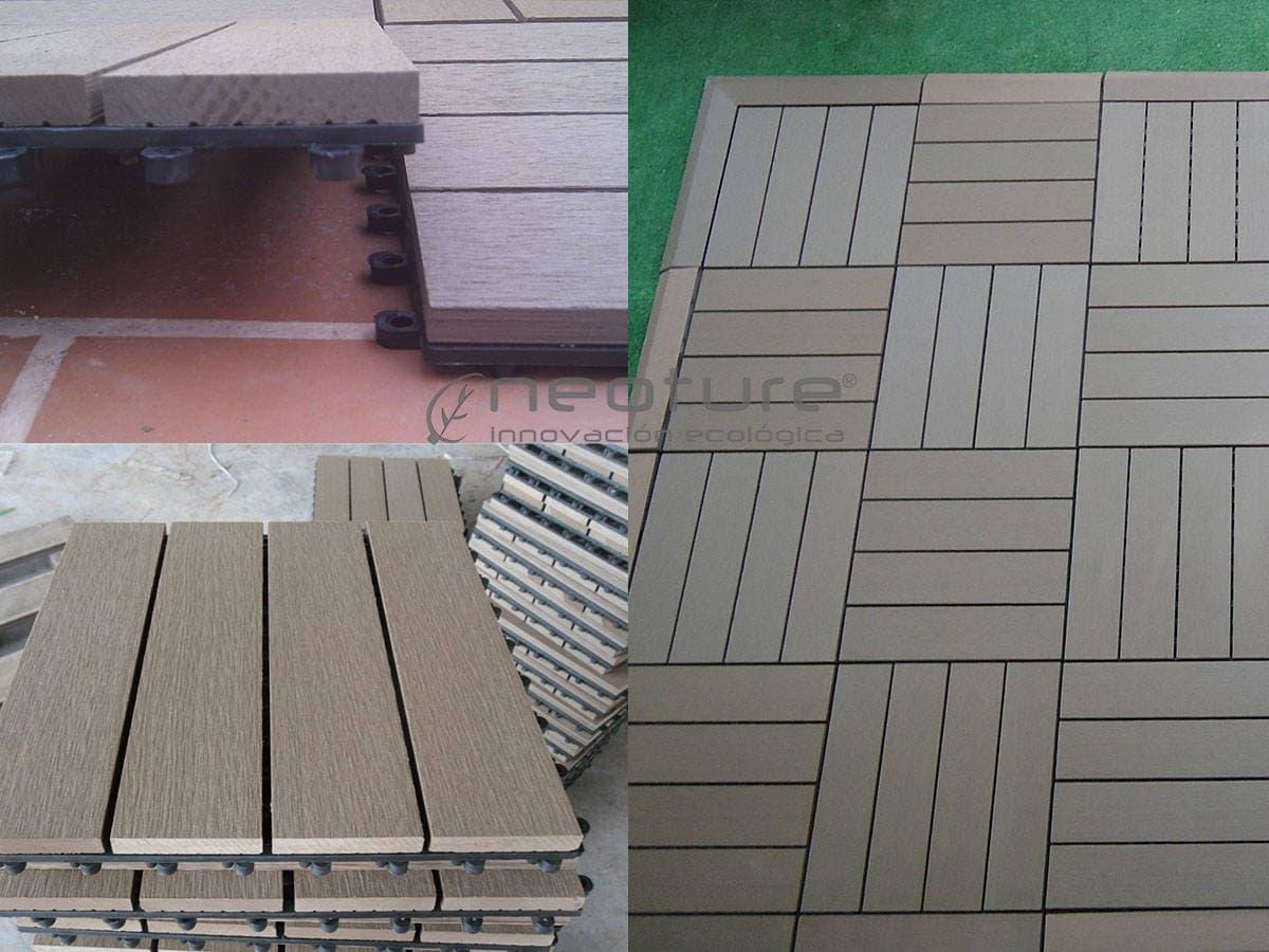 La baldosa composite para terraza el suelo de exterior m s f cil de instalar - Baldosa madera exterior ...