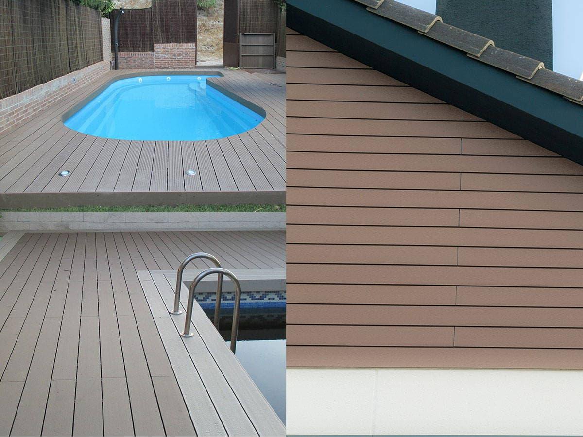 tarima madera exterior fabricadas con fibras de madera y polimeros