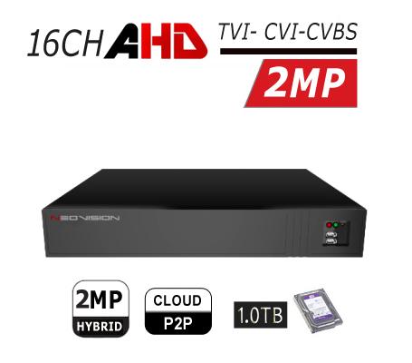 מכשיר הקלטה 16 ערוצים AHD 2MP