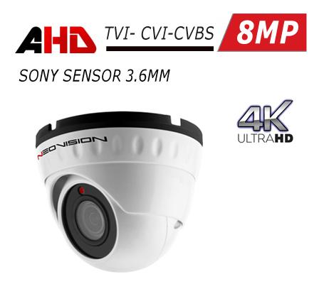 מצלמת אבטחה כיפה AHD 4K