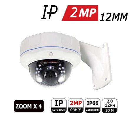 מצלמת אבטחה כיפה ZOOM IP 2MP