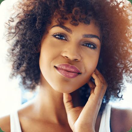 Woman Looking Forward Smiling