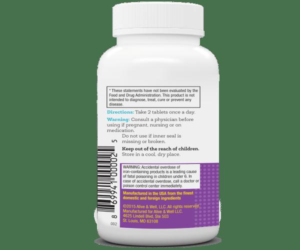 NeoVitin Womens Multivitamin Bottle Directions Panel