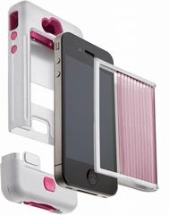 Case-Mate iPhone4 4S ミリタリーグレードケース タンク ホワイト ピンク CM016805