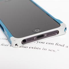 COREMECHATEC MOBiCRAB メタルバンパー for iPhone5(ブルー+シルバー) RX-IP5MB-BLSL
