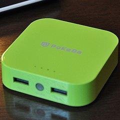PoKeBa ハイパワー小型充電バッテリー グリーン PKBG