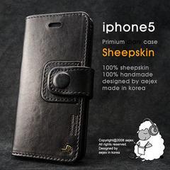 AEJEX iPhone5用ケース DIARYタイプ ブラック AS-AJIP5D-BK